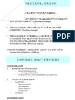 Corporate Level Strategy (1)