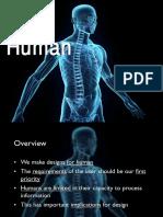 Human Computer interaction - the human