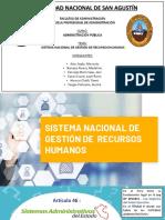Sistema Nacional de Gestion de Recursos Humanos