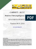 OP COM Handbuch