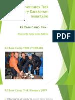 K2 Base Camp Trek itinerary