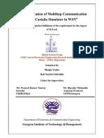 Report for Implementation of Multihop Communication Using Castalia Simulator in Wireless Sensor Networks