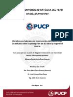 Condiciones Laborales Docentes TESIS PUCP