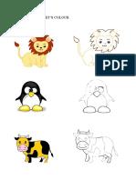 coloring cute animals // mewarna haiwan comel