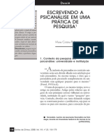 Escrevendo a psicanálise em uma prática de pesquisa.pdf