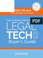 LawGeex - The in-House Counsel's LegalTech Buyer's Guide - 2018 Edition