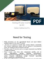 Testing of Solar Inverters