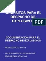 Requisitos Para El Despacho de Explosivos