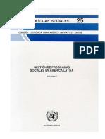 Programas Sociales América Latina