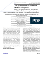 Analysis of the quality of life in Brazilian offshore companies