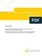 Free Critical Thinking Test Deductions Questions