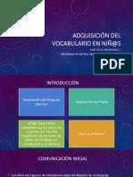 Adquisición del vocabulario. CRZ. UDEC2018
