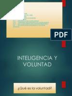Inteligencia y Voluntad