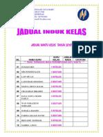 KULIT JADUAL INDUK 2018~ JADUAL KELAS INDUK GURU KELAS