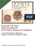 De Vico - Storia Generale Del Regno Di Sardegna