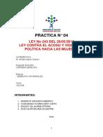 Ley Del Acoso Politico