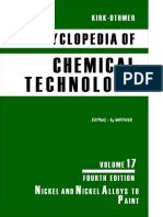 Kirk Othmer Encyclopedia of Chemical Technology Vol 17