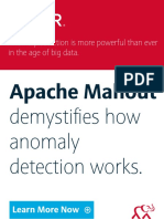 Apache Mahout anomaly detection