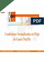 Condiciones Normalizadas en Gases