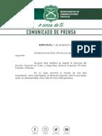 Comunicado de Prensa 07.12.18