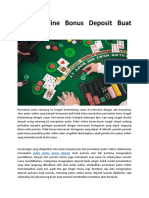 Poker Online Bonus Deposit Buat Pemula