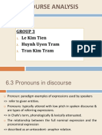 Discourse Analysis Chap 6 6.3 Pronouns