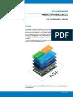 Atmel 42336 ASF USB Stack Manual ApplicationNote AT09331