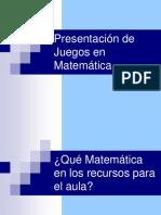 Presentacic3b3n de Juegos en Matemc3a1tica
