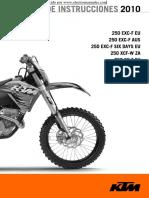 Manual de Instrucciones Ktm 250 Sxf 2010