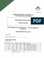 Procedimiento Plataformas y Andamios