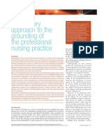 Ribeiro, O. (2018). Explanatory approach to the grounding of the professional nursing practice. Suplemento Digital Revista de Enfermería ROL 2018. 41(11-12).