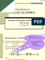 P010 - Presentation on Intro to Matrix Algebra in XLS