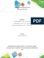Evaluacion Final POA balance  de energia