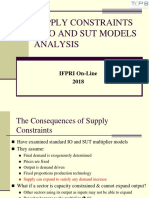 Supply Constrained Multipliers With SUT