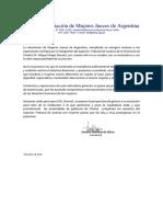 Comunicado AMJA Rechazo Expresiones Dr. Donnet
