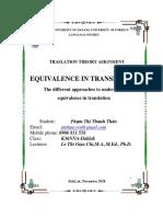 Phạm Thị Thanh Thảo - Nna.k36 - Equivalence in Translation