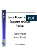 Seismic demands and their dependance on ground motion - Krawinkler