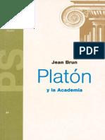 Jean Brun - Platón y La Academia