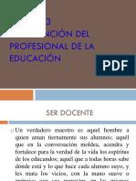INTERVENCIÓN DEL PROFESIONAL DE LA EDUCACIÓN