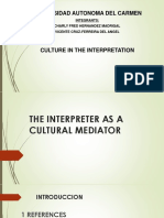 Interpreter as a Cultural Mediator