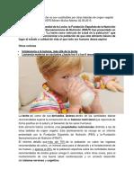 Los Nutrientes de La Leche No Son Sustituibles Por Otras Bebidas de Origen Vegetal