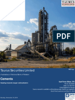Cement Sector Detailed Report, November 19 2018 (2)