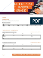 Electronic Keyboard 2019-2022 - Keyboard Exercise - Student Handout - Initial & Grade 1