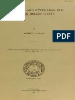 Arthur Evans-Minoan and Mycenaean Elements- 1912