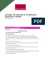 Jornada _40 Años de La Constitución Española a Debate