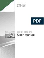 ZXHN H108N User Manual