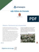 App Aljibes de Granada Ayuntamiento de Granada