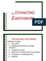 Earth Work Shrinkage Factors