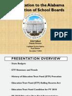 Fiscal Forecast presentation - Alabama Association of School Boards