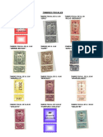 Timbres Fiscales y Notariales , Forenses